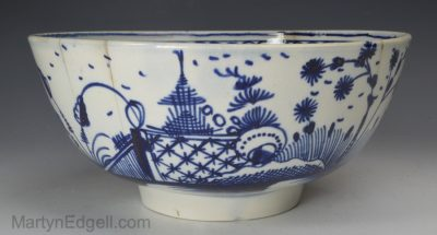 Pearlware pottery bowl