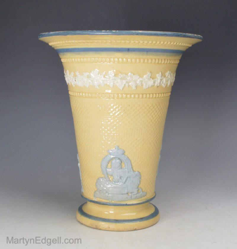 Commemorative pottery vase