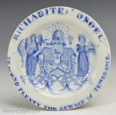 Pearlware commemorative cup plate