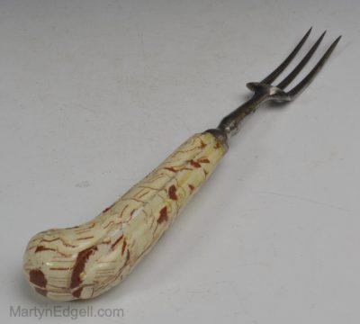 Agateware fork handle