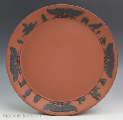 Wedgwood rosso antico plate