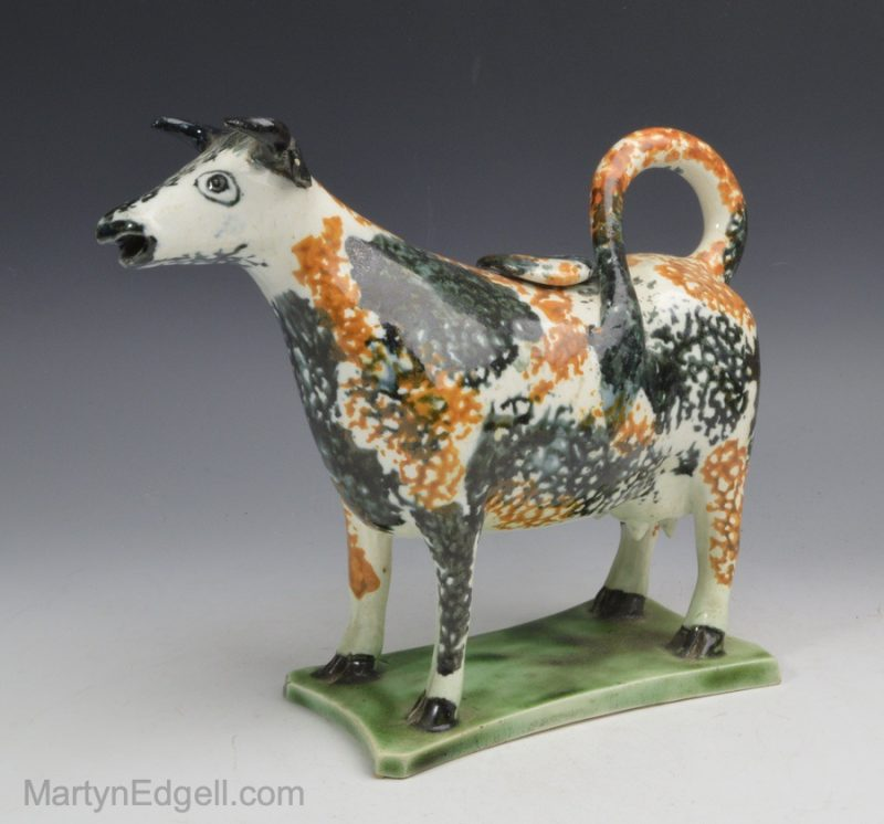 Pearlware cow creamer