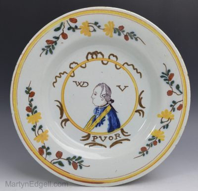 Dutch Delft commemorative plate