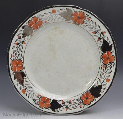 Silver lustre plate