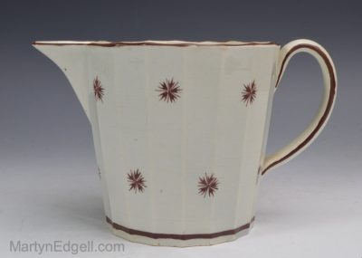 Pearlware pottery creamer