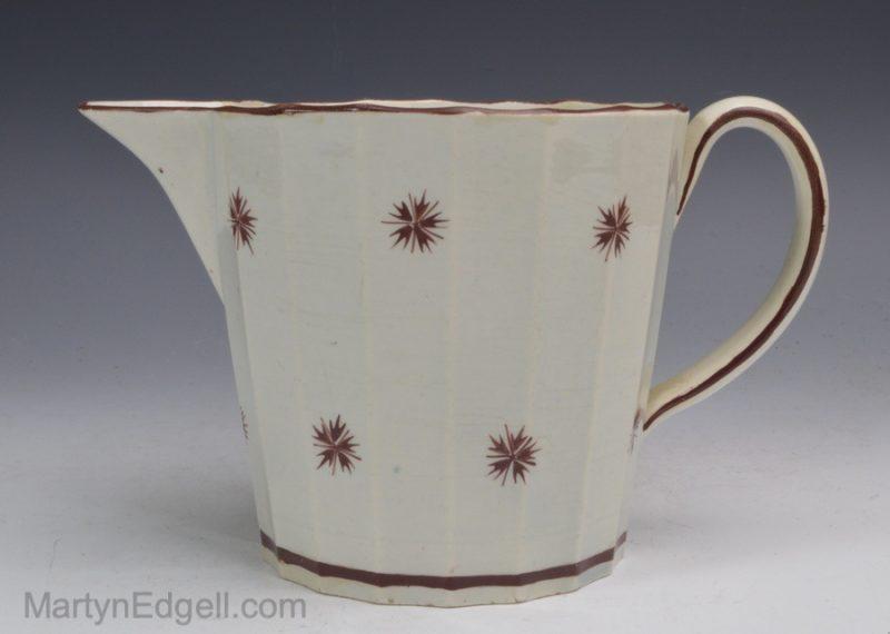 Pearlware pottery creamer