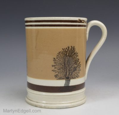 Antique Mochaware mug