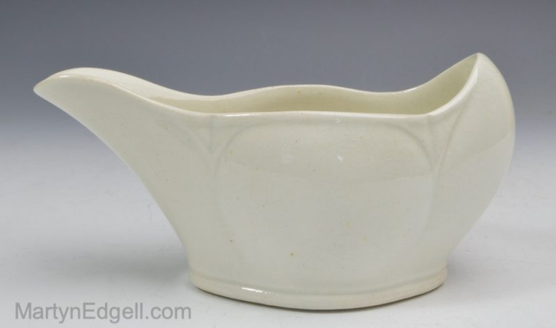Wedgwood pearlware pap boat