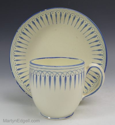 Creamware cup and saucer