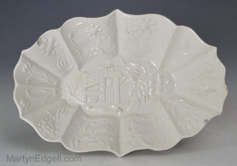 Salt glazed stoneware spoon tray