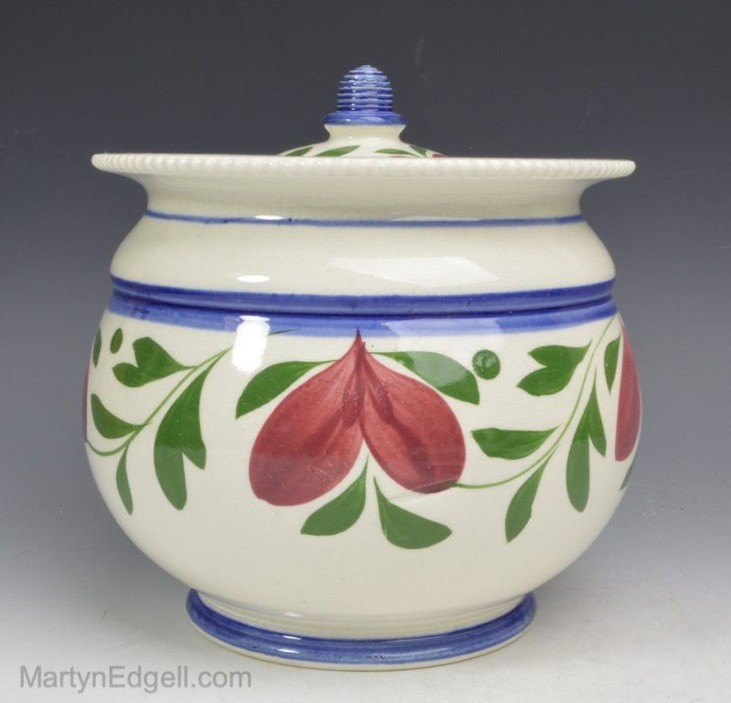 Pearlware sugar pot
