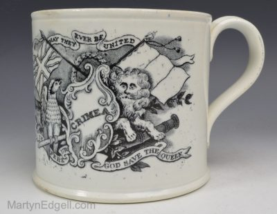 Commemorative pearlware mug