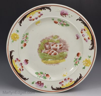 Staffordshire pearlware plate
