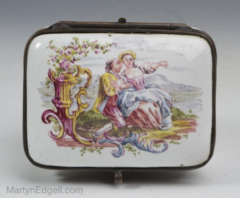 French pottery snuff box