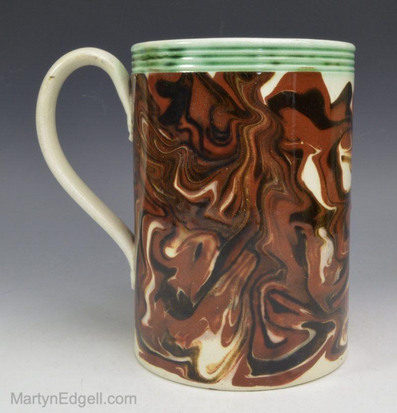 Mocha ware creamware mug