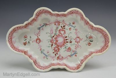 Pearlware spoon tray