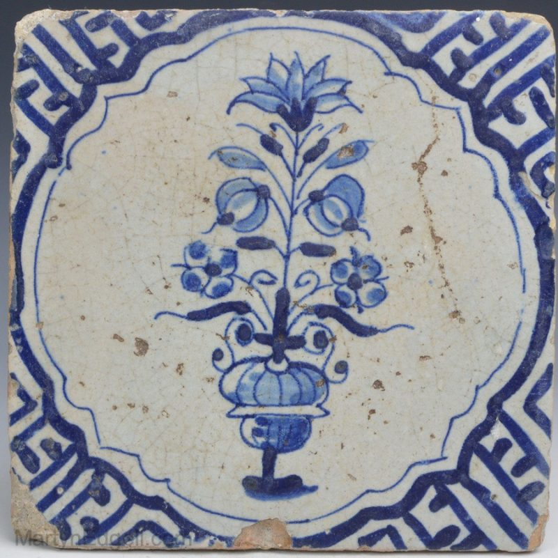 Dutch Delft pottery tile