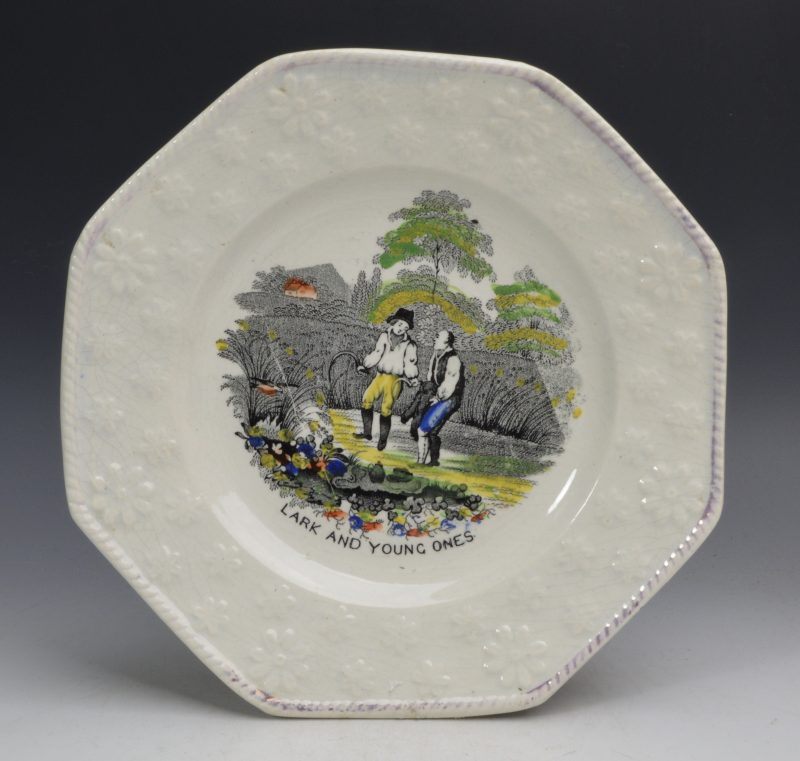 Pearlware child's plate