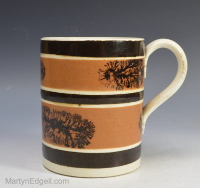 Mochaware pottery mug