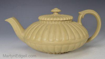 Drab stoneware teapot