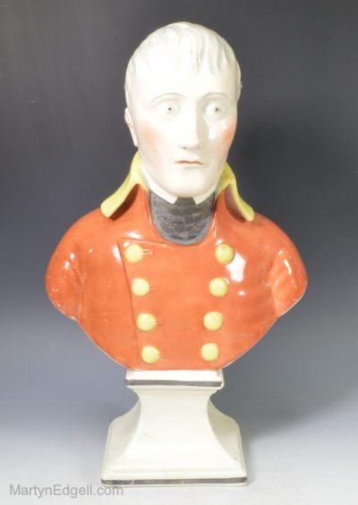 Pearlware bust Napoleon