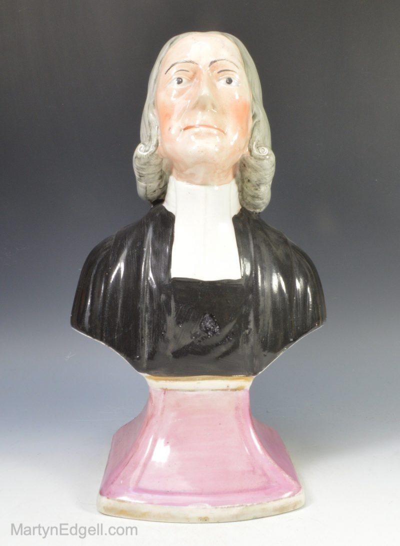 Pearlware bust Wesley