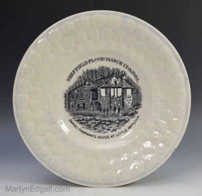 Commemorative pearlware plate