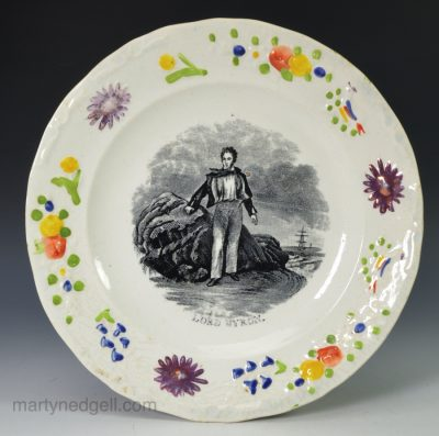 Childs plate Lord Byron