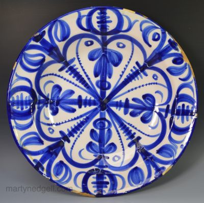 Spanish faience charger