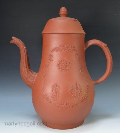 Staffordshire red stoneware coffee pot
