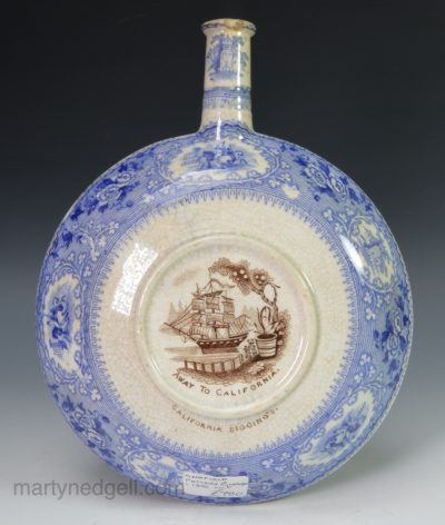 Scottish pearlware flask
