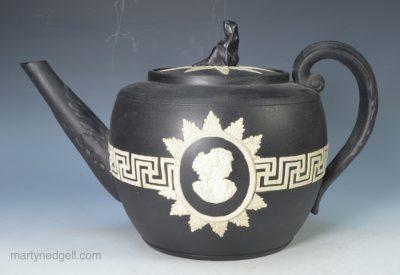 Black basalt teapot