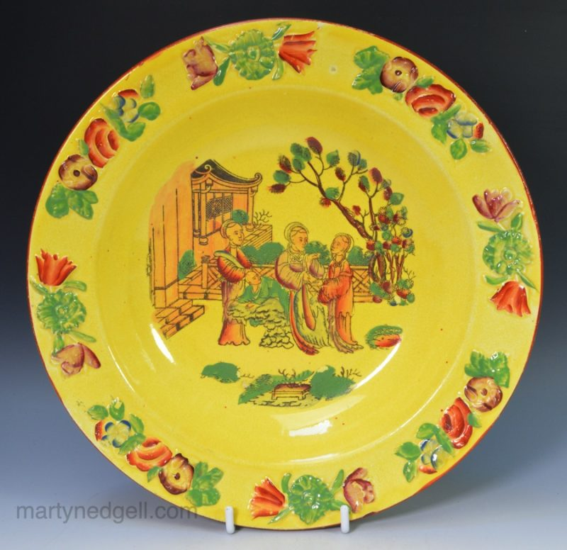 Canary yellow soup plate