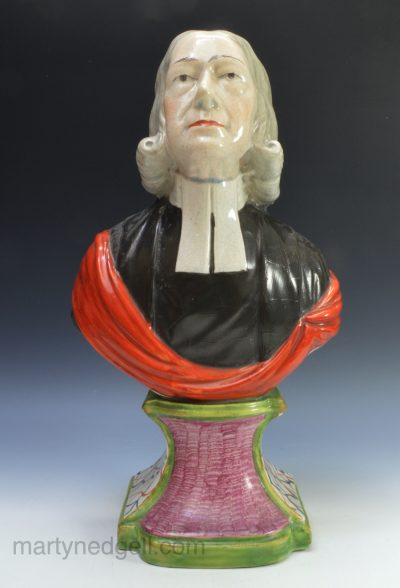 Staffordshire bust of Wesley