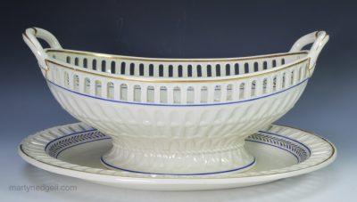 Wedgwood creamware basket