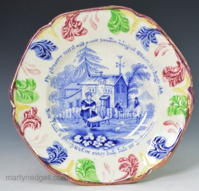 Child's pearlware pottery plate