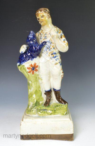 Prattware pottery figure