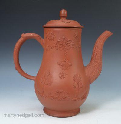 Staffordshire redware coffee pot