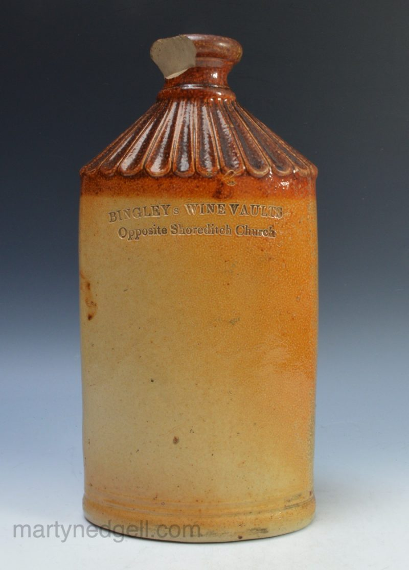 Saltglaze spirit flask