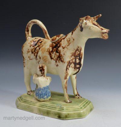 Creamware cow creamer