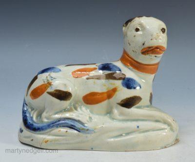 Prattware pottery lion