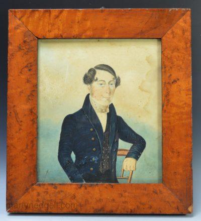 Naive watercolour portrait