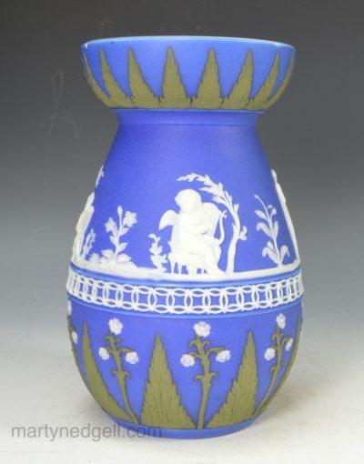 Jasper ware hyacinth vase