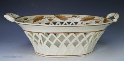 Davenport creamware basket