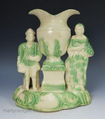 Creamware spill vase