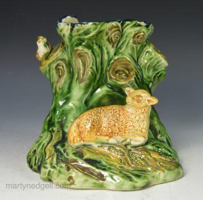 Pearlware sheep vase