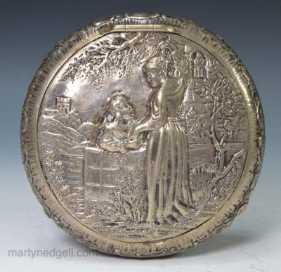 Dutch silver tobacco box