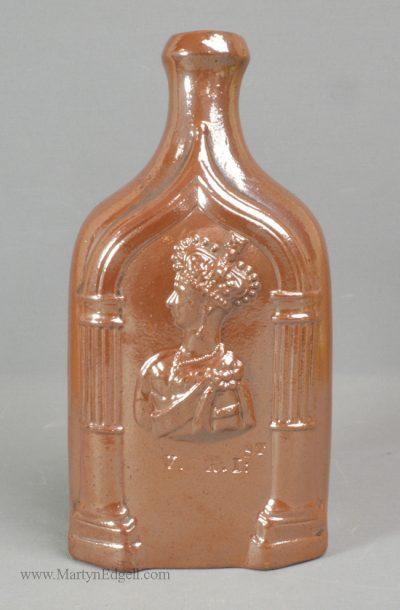 Antique stoneware flask