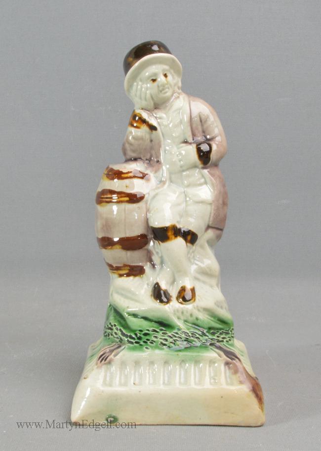 Antique pearlware pottery figure