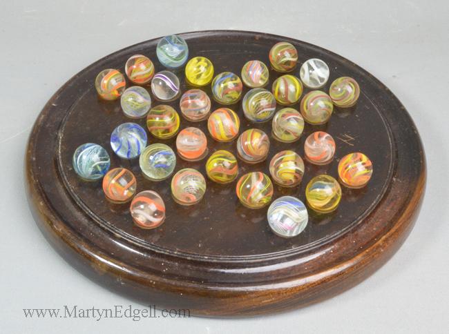 Antique solitaire board
